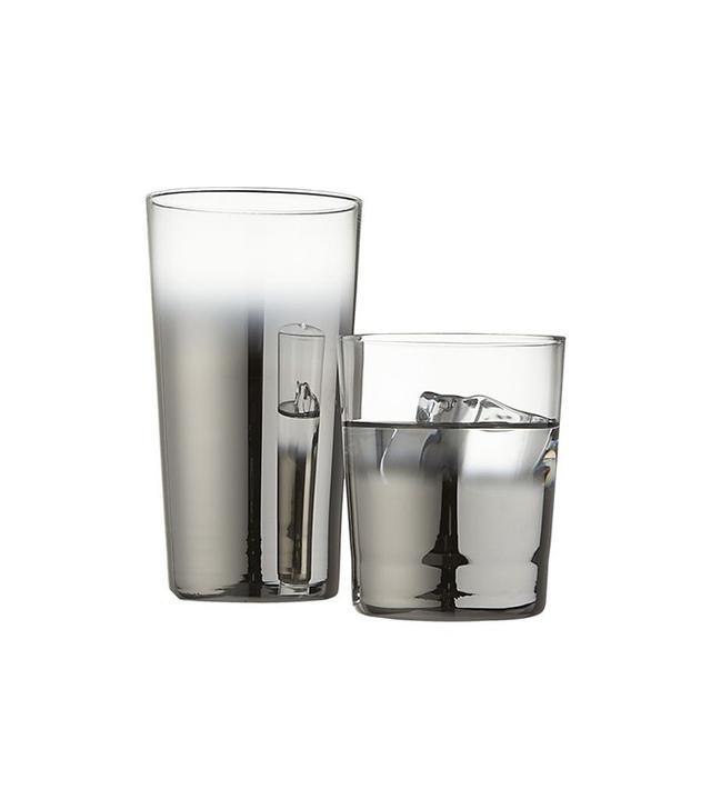 CB2 Metallic Barware Glasses