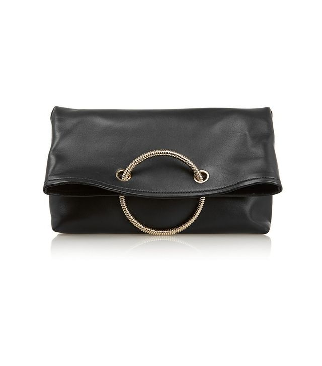 Victoria Beckham Spiral Leather Clutch Bag