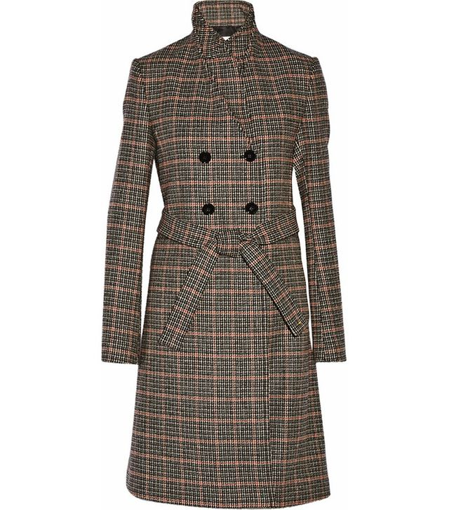 Victoria Beckham Double-Breasted Check Coat