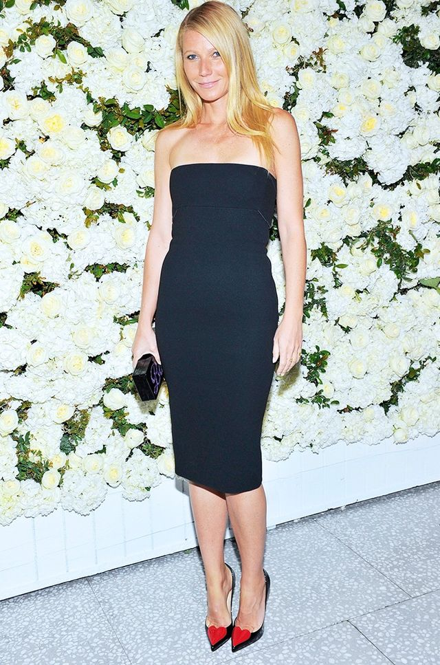 On Paltrow: Victoria Beckham dress.