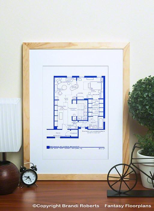 TV Floorplans Carrie Bradshaw Apartment Art