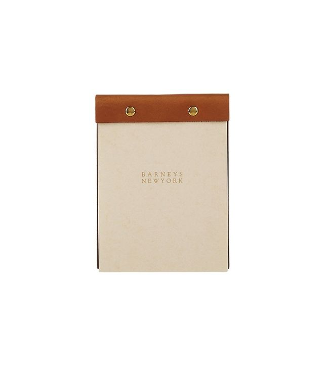 Barneys New York Leather-Bound Notepad