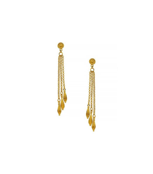 Ben Amun Gold Filigree Earrings