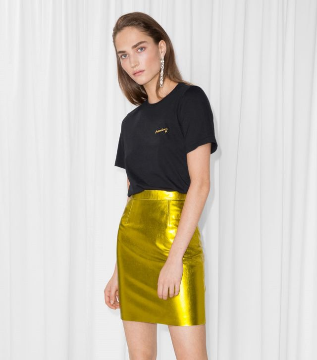 & Other Stories Leather Skirt