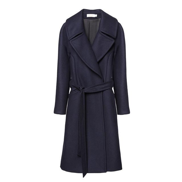 Cuyana Wool Coat in Navy