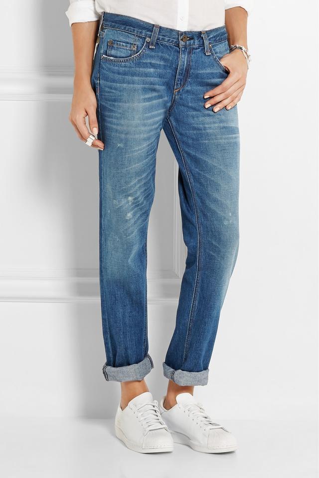 Rag & Bone The Boyfriend Distressed Mid-Rise Jeans