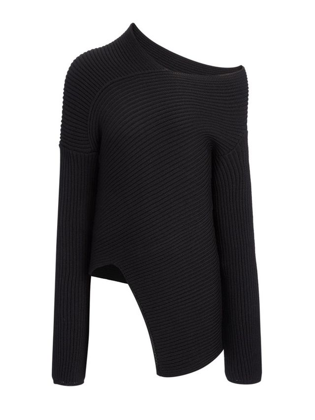 Joseph Wool Cardigan Stitch Asymmetric Sweater