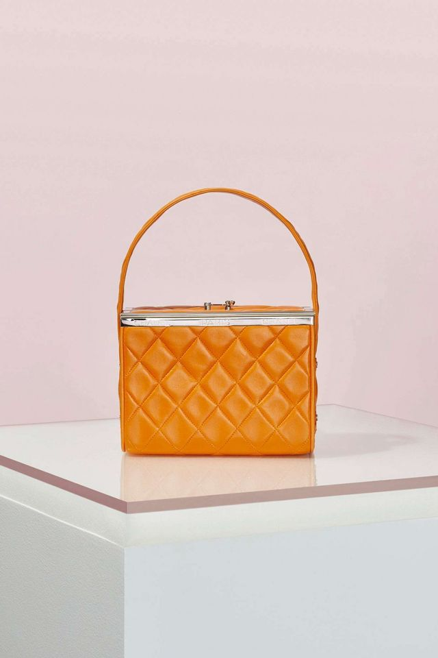 Chanel Orange Leather Box Bag