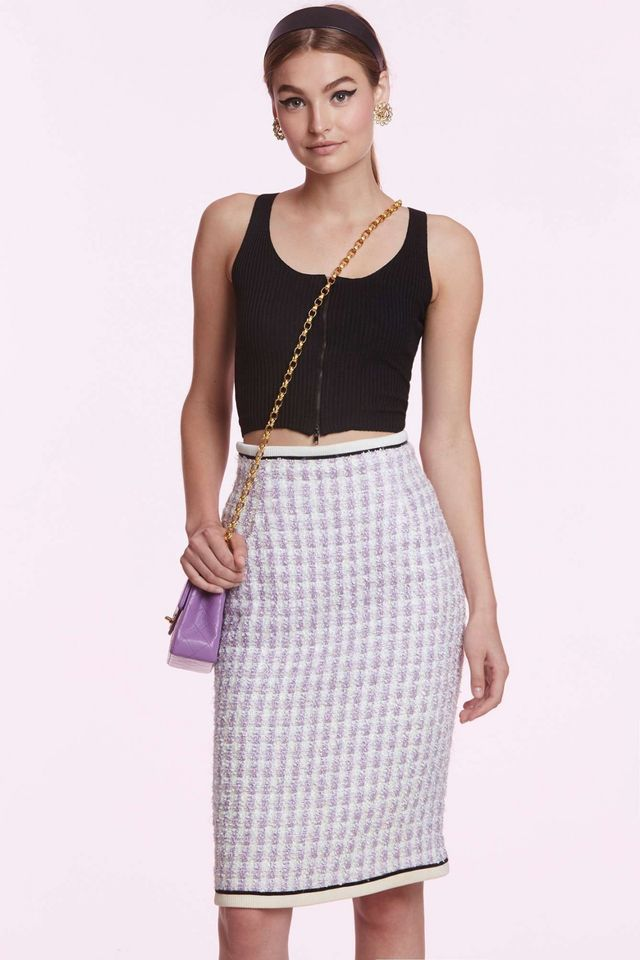 Chanel Georgine Box Plaid Pencil Skirt