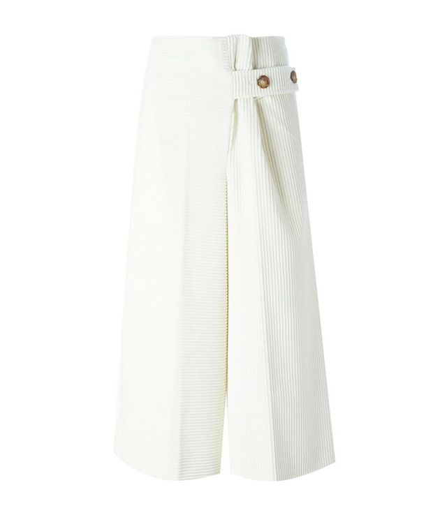 Victoria Beckham Wide Leg Corduroy Culottes
