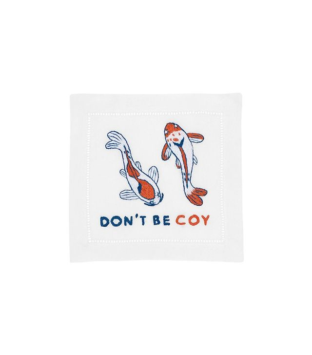 August Morgan Don't Be Coy Cocktail Napkin