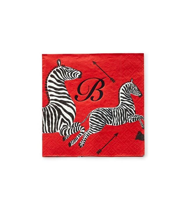 Caspari 100 Zebras Paper Napkins