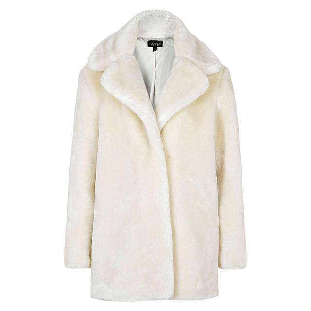 Topshop Faux Fur Compact Coat