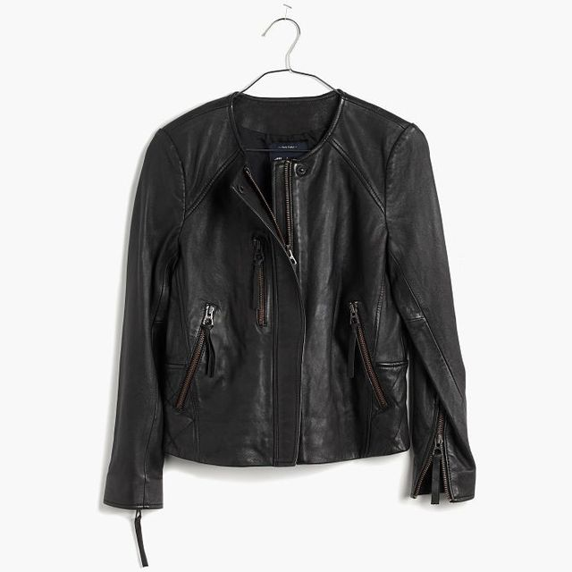 Madewell Metropolis Leather Jacket
