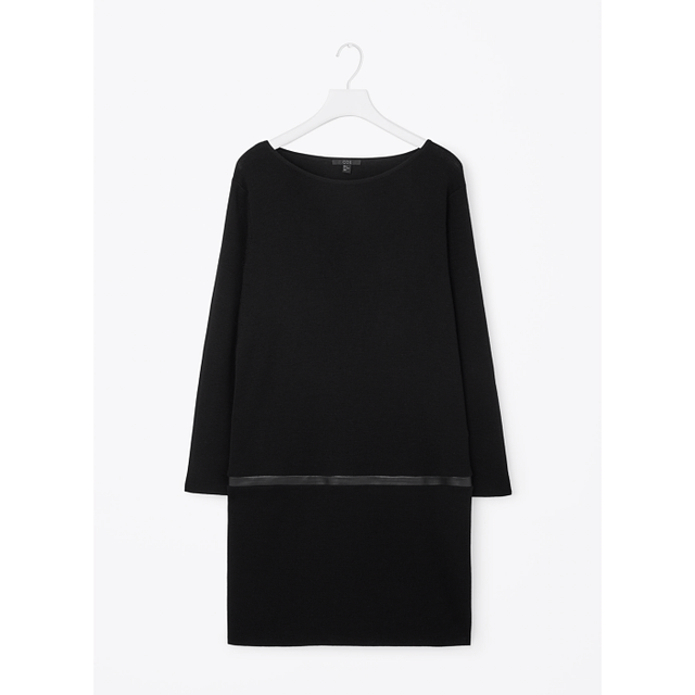 COS Leather Detail Wool Dress