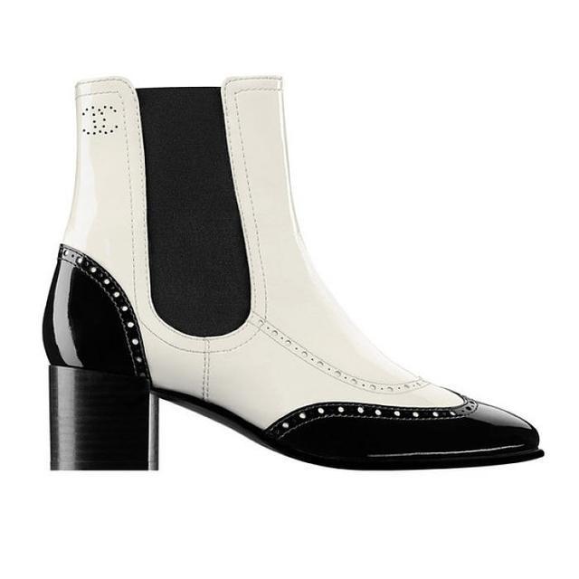 Chanel Patent Calfskin Short Boots