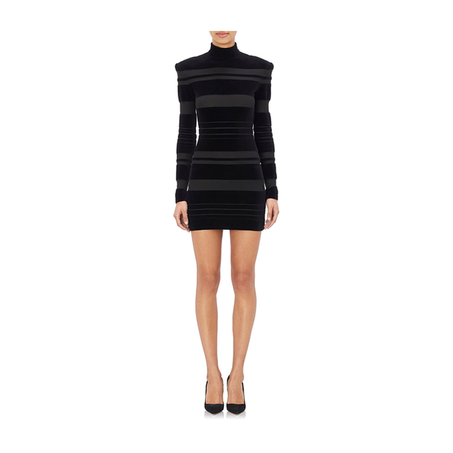 Balmain Long-Sleeve Turtleneck Dress