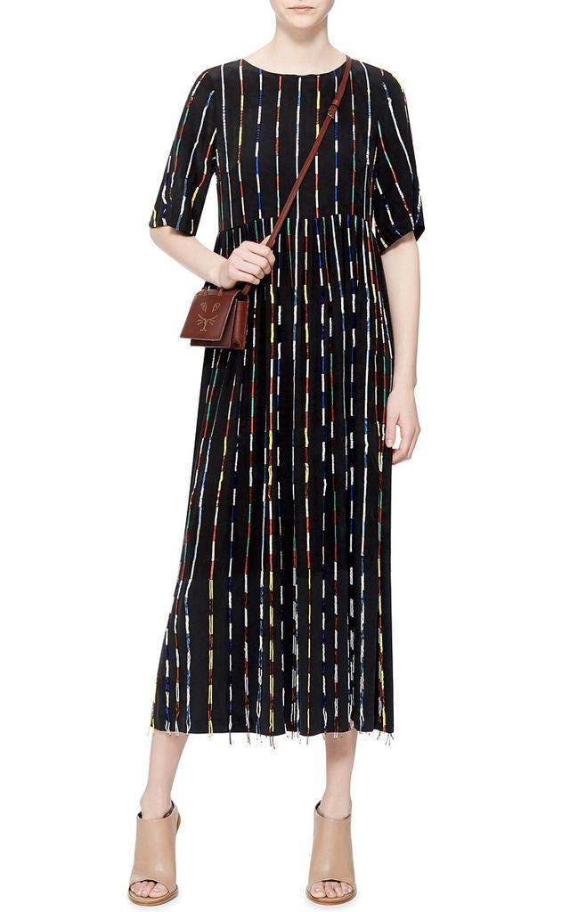 Suno Multicolor Beaded Striped Dress