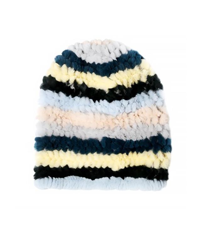 Mate Rex Rabbit Fur Knit Beanie Hat