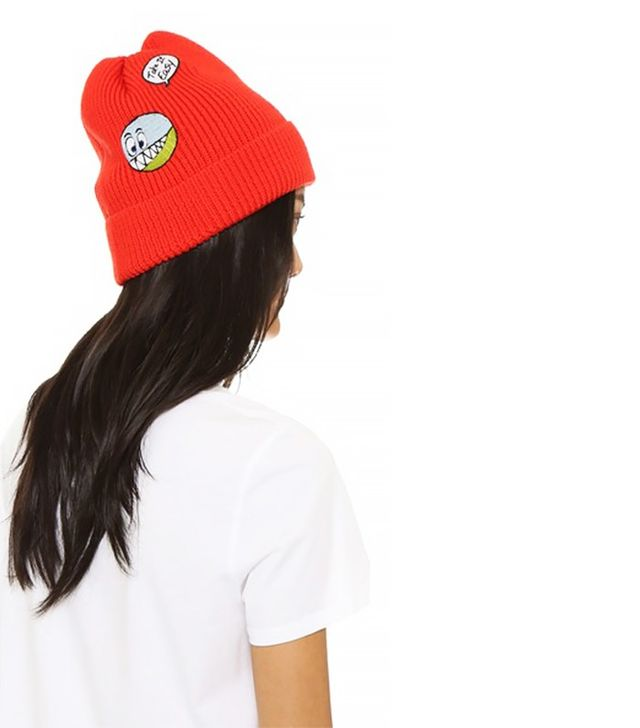 Mira Mikati Wool Beanie With Icon Patches