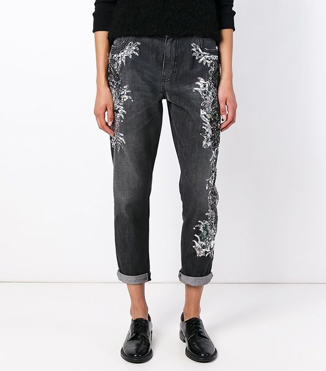 Amen Sequin Embellished Jeans