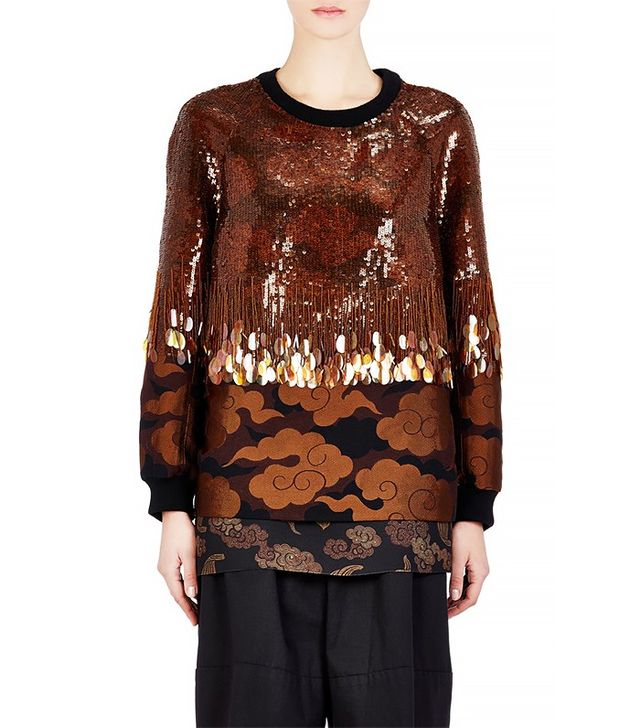 Dries Van Noten Embellished Columbia Top