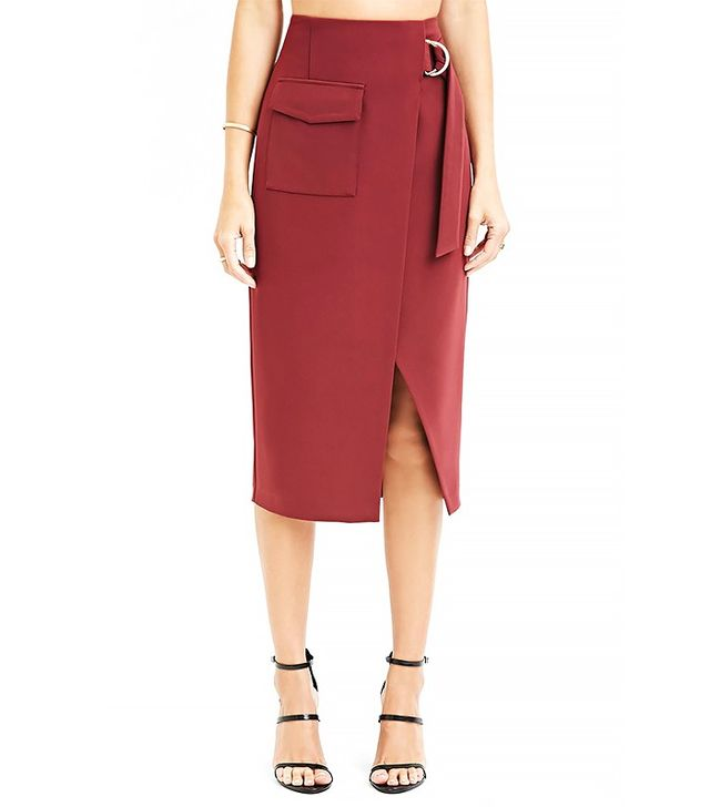 Forever 21 Contemporary D-Ring Split Pencil Skirt