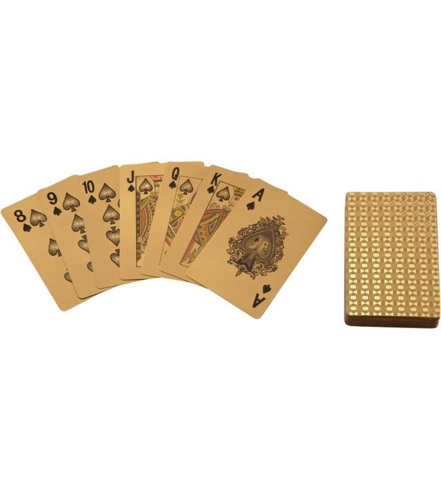 Just One Eye Gilded Playing Cards with Leather Card Case