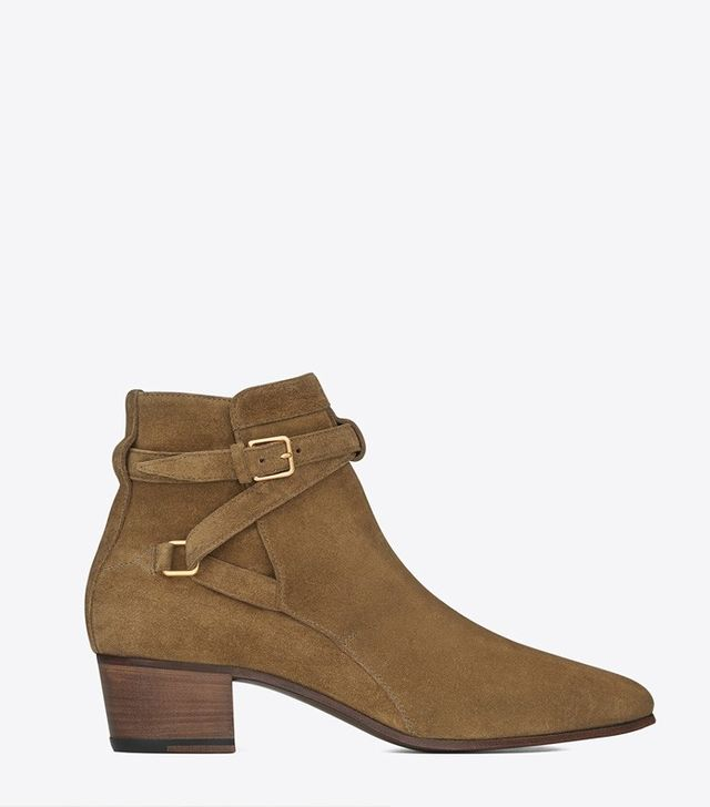 Saint Laurent Suede Ankle Boots
