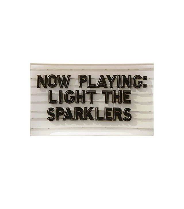 Kate Spade New York Now Playing: Light the Sparklers Glass Tray