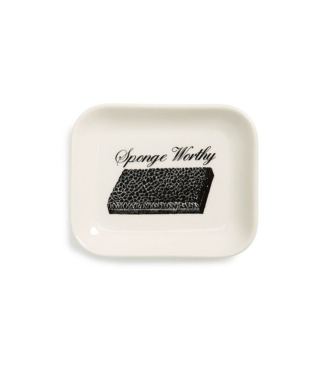Fishs Eddy Sponge Worthy Ceramic Trinket Tray