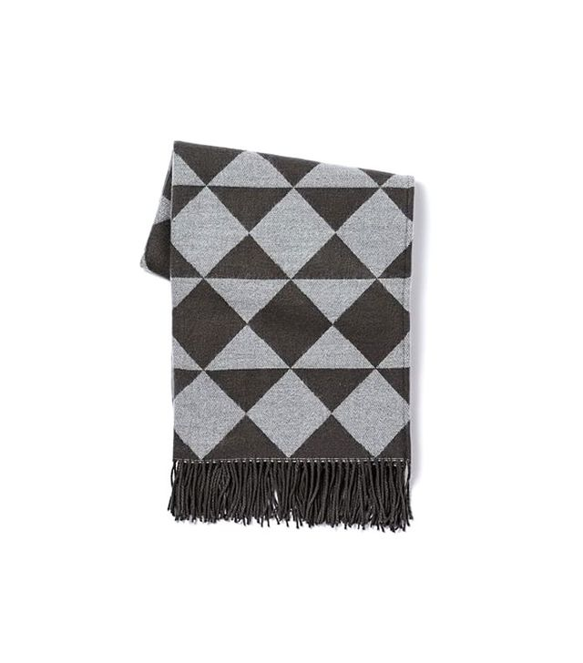 West Elm Warmest Throw Triangle Jacquard