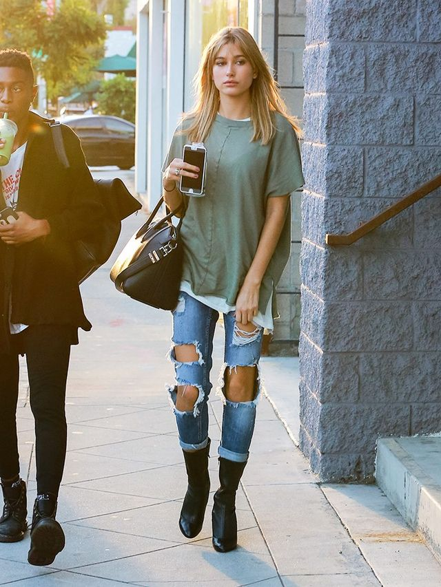 Wear sock boots with your laid-back look.