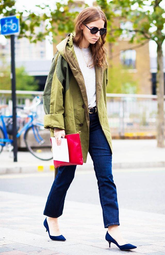 Layer on an army jacket.