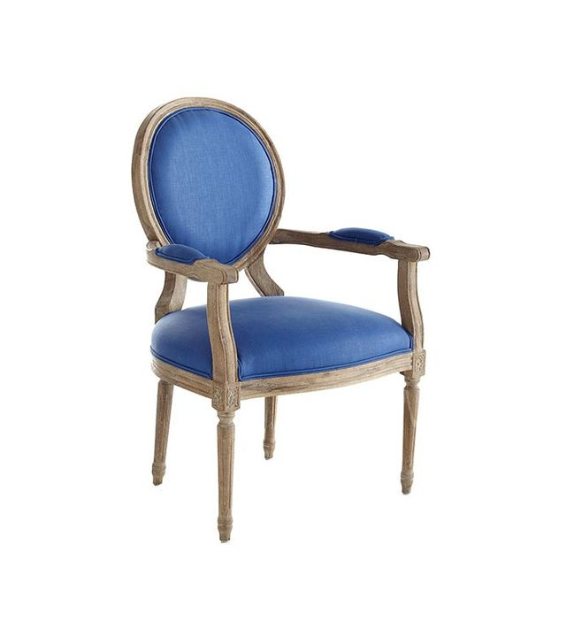 Wisteria Louis XVI End Chair in Royal Blue