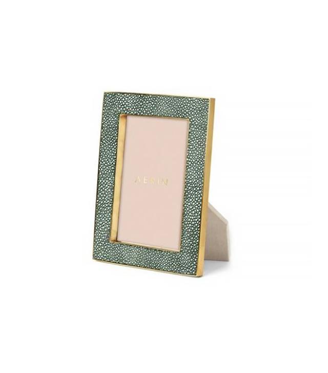 Aerin Emerald Shagreen Frame