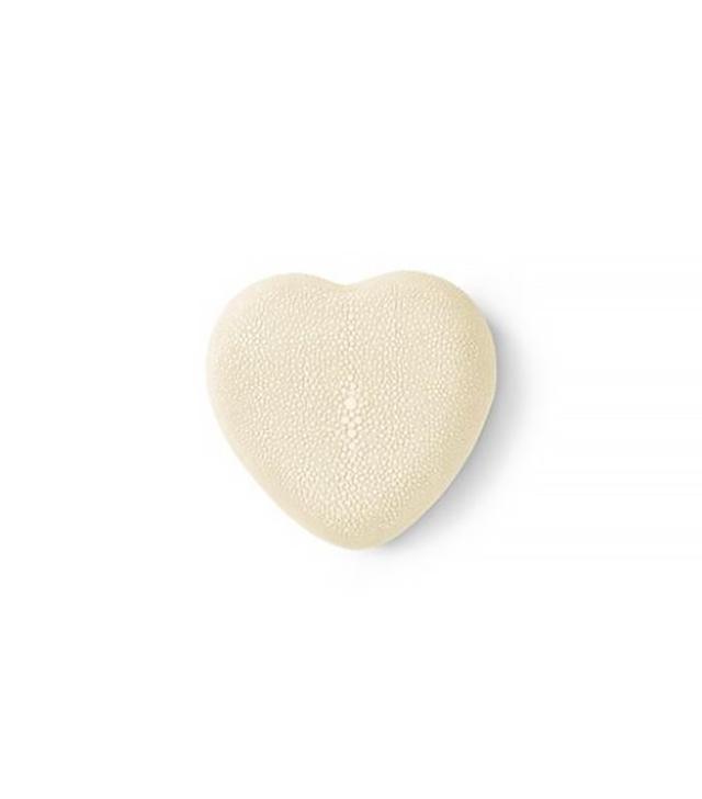 Aerin Cream Shagreen Heart Box