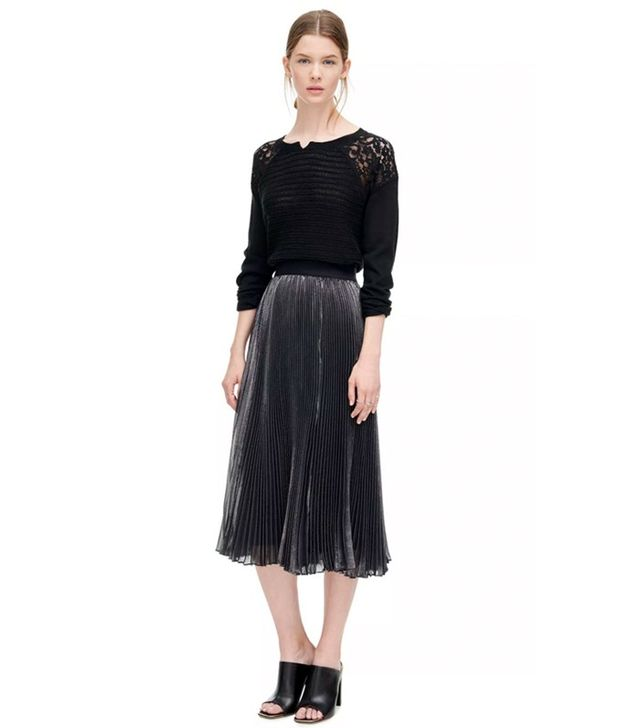 Rebecca Taylor Lurex Pleat Skirt