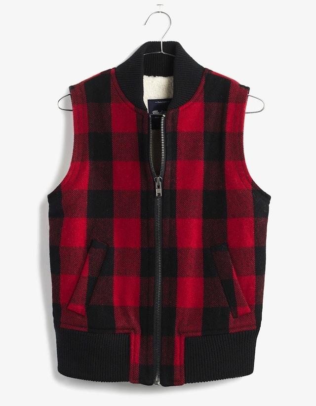 Madewell Buffalo Check Vest
