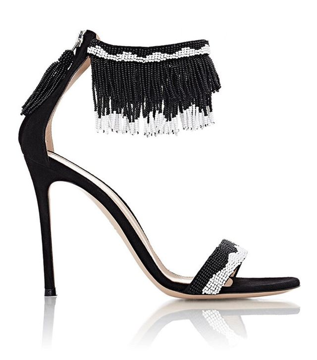 Gianvito Rossi Beaded Ankle-Cuff Sandals