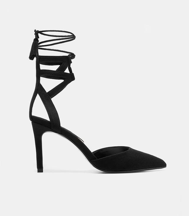 Mango Lace-Up High Heel Shoes