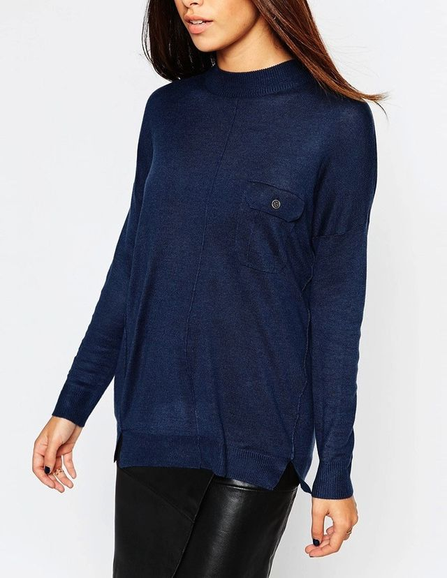 Warehouse Button Pocket Front Sweater