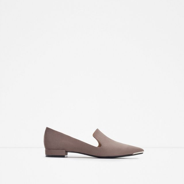 Zara Metal Toe Flats
