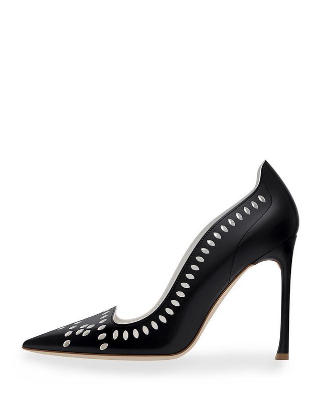 Dior Laser-Cut Leather 100mm Pump in Black