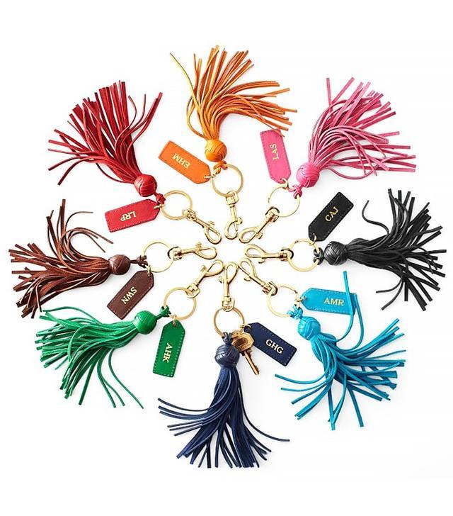 Mark and Graham Leather Tassel Key Chain