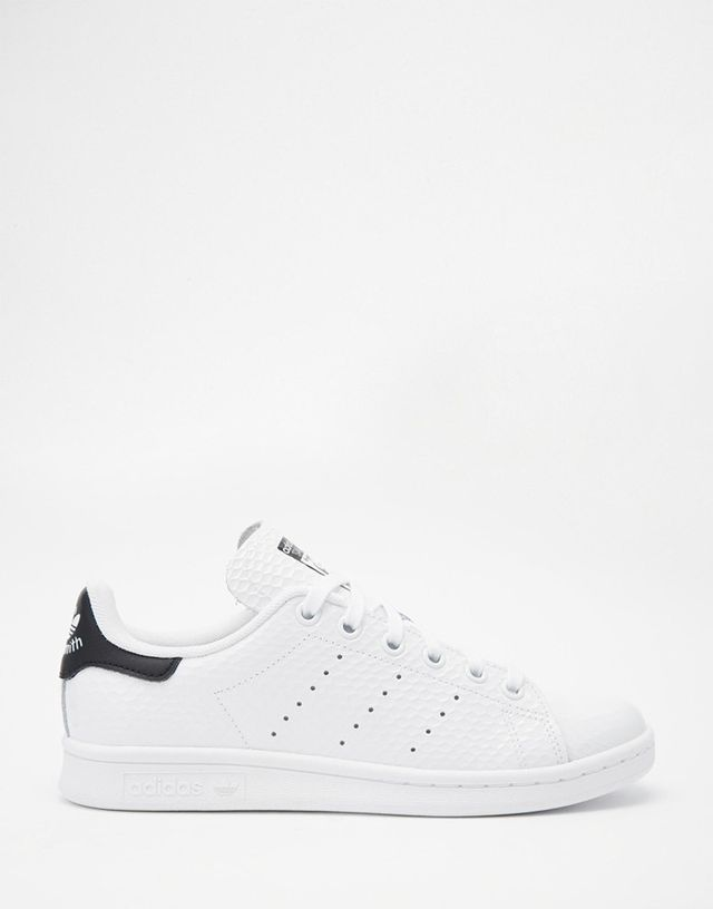 Adidas Stan Smith White and Black Sneakers