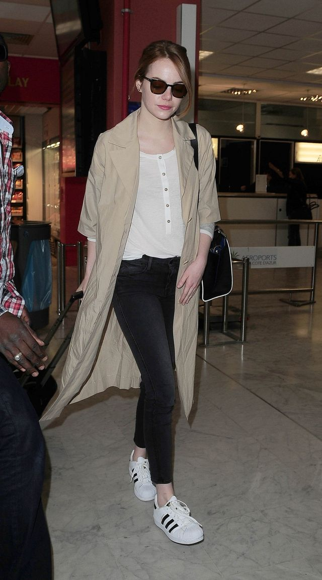 Emma Stone in Adidas Superstar sneakers