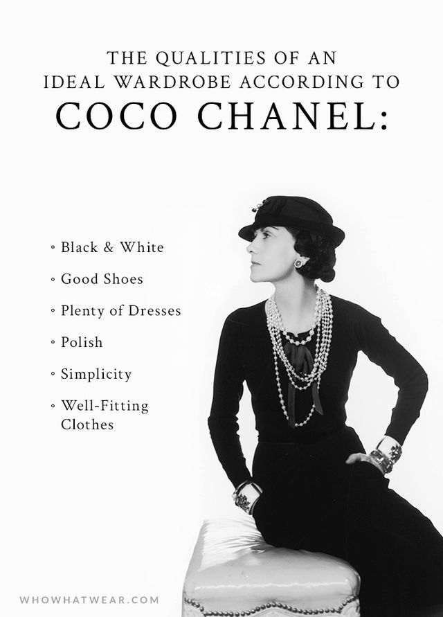 Fabuleux A Woman's Ideal Wardrobe, According to Coco Chanel | WhoWhatWear UR43