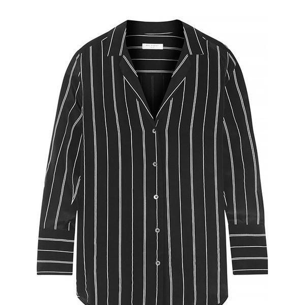 Equipment May Striped Washed-Silk Shirt