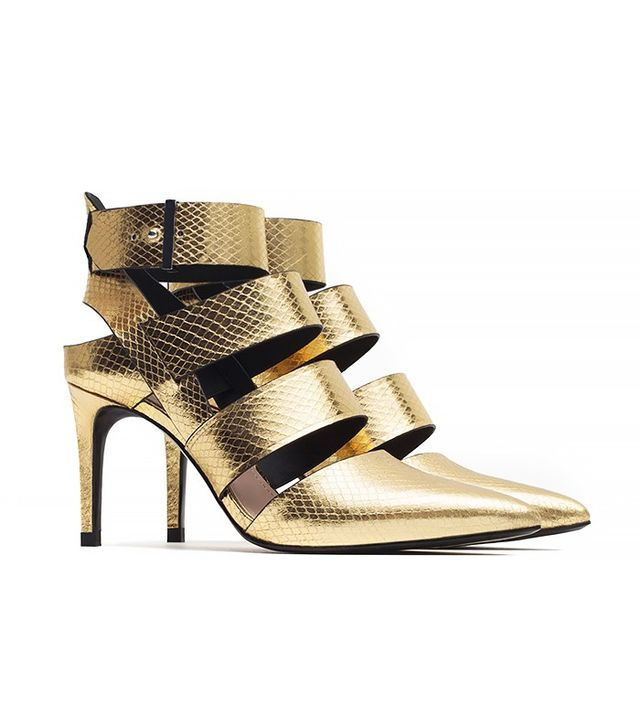 Zara High Heel Court Shoes With Straps